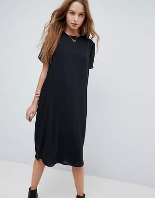Asos DESIGN Sheer Shift Midi Dress
