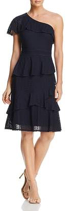 Adelyn Rae Trixie One-Shoulder Lace Dress