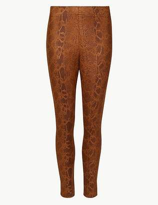 Marks and Spencer Animal Print Skinny Leg Trousers