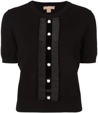 Michael Kors button front knit top