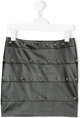 John Richmond Junior studded faux leather skirt