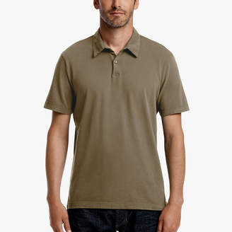 James Perse SUEDED JERSEY POLO
