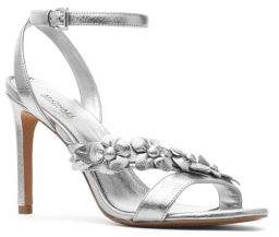 MICHAEL Michael Kors Tricia Metallic Leather Ankle-Strap Sandals