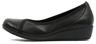 New Supersoft Flexwedge Black Womens Shoes Comfort Shoes Heeled