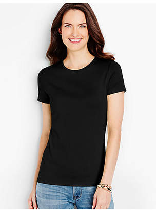 Talbots Pima Cotton Short-Sleeve Crewneck Tee