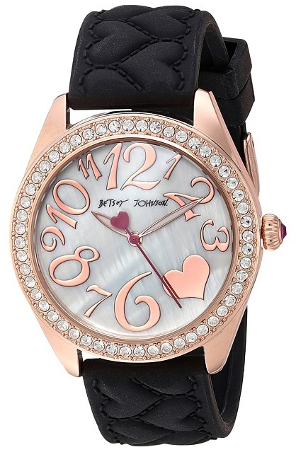 Betsey Johnson Betsey Johnson - BJ00048-172 - Black Silicone Strap Watches
