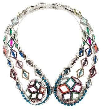 Erickson Beamon Crystal Statement Collar Necklace