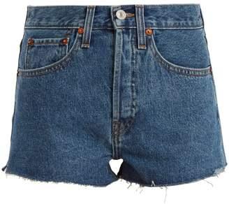 RE/DONE ORIGINALS Originals The Short mid-rise denim shorts