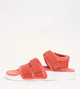 adidas Adilette 2.0 Sandals In Red