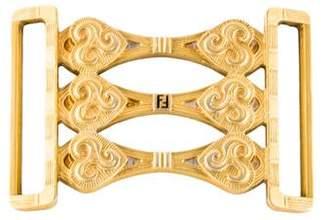 Fendi Gold-Plated Belt Buckle