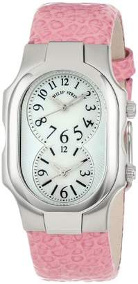 "Philip Stein Teslar Women's 1-NFMOP-CGCL ""Signature"" Stainless Steel Watch with Leather Band"