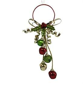 Christmas Shop Gar-Door Swag Jingle Bell Multi