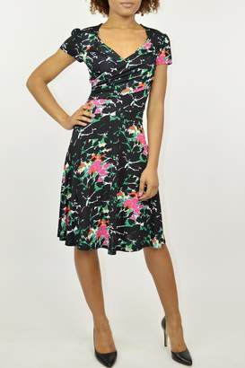 Leota Floral Surplice Dress