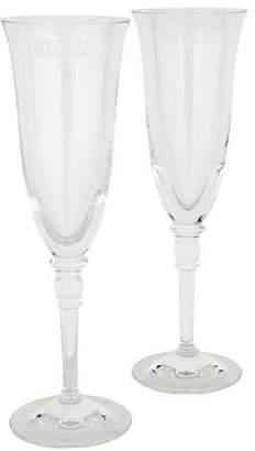 Ralph Lauren Pair of Landon Champagne Flutes