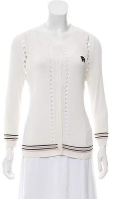 Rochas Knit Button-Up Cardigan