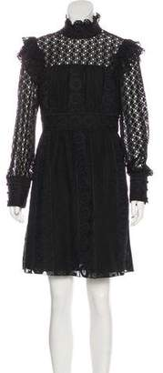 Anna Sui Long Sleeve Mini Dress w/ Tags