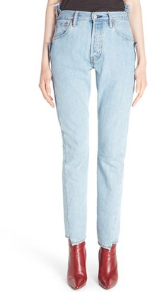 Women's Vetements Reworked High Waist Jeans $1,460 thestylecure.com