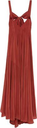Three Graces London Janie Tie-Back Silk Maxi Dress