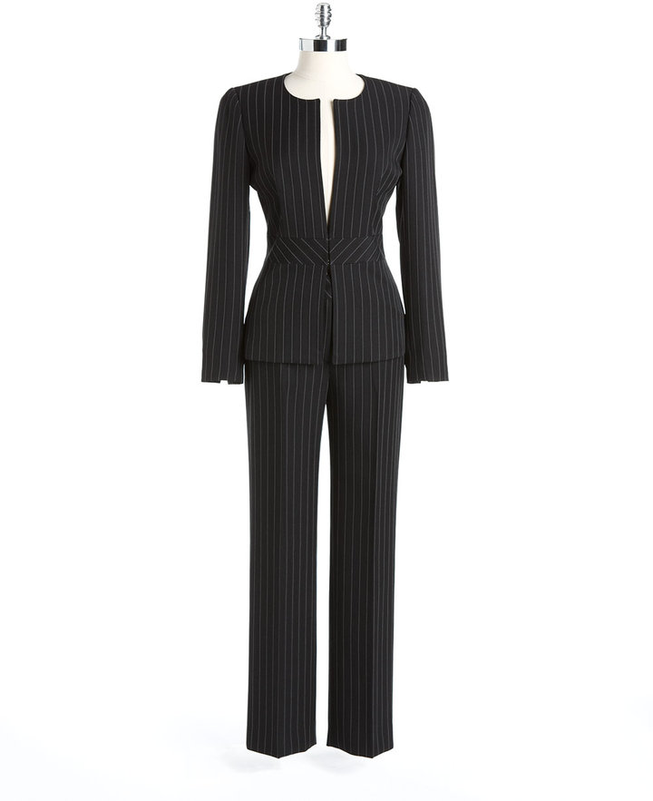 TAHARI ARTHUR S. LEVINE Pinstriped Pants Suit