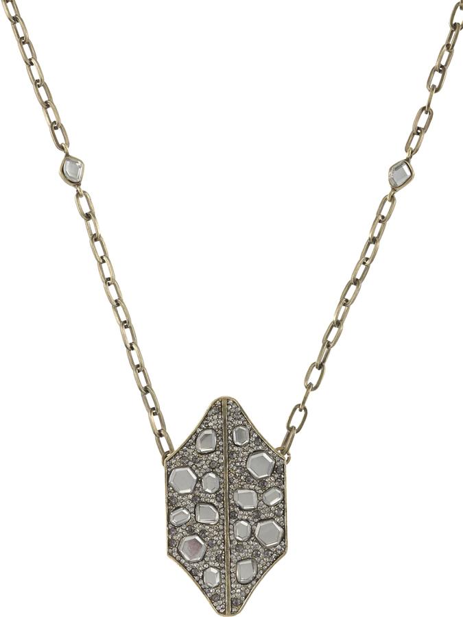 Rebecca Minkoff Mirrored Stone Necklace