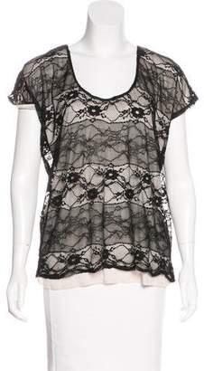 Aqua Lace Short Sleeve Top