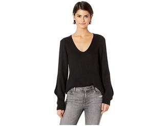 1 STATE 1.STATE Cold Shoulder V-Neck Sweater w/ Twist Sleeves