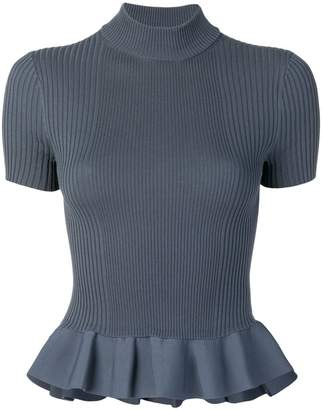 Alexander Wang ribbed knit peplum T-shirt
