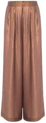 In.No Violet Bronze Palazzo Trousers