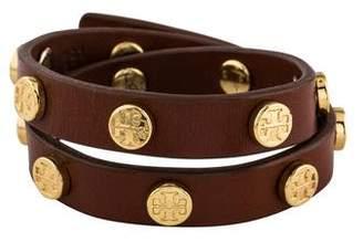 Tory Burch Double Wrap Logo Stud Bracelet