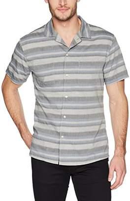 Life After Denim Men's Short Sleeve Slim Fit Poncho Cotton Camp Shirt