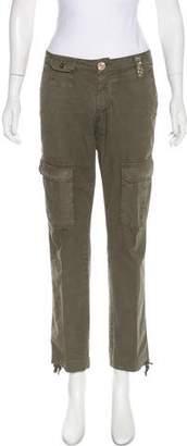 Blumarine Distressed Mid-Rise Pants