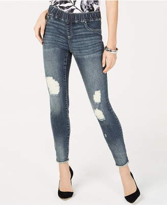 INC International Concepts I.n.c. Destructed Pull-On Skinny Jeans