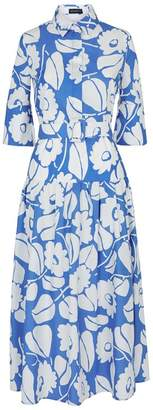 Piazza Sempione Floral Belted Midi Dress