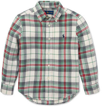 Ralph Lauren Childrenswear Long-Sleeve Plaid Button-Down Shirt, Size 2-4