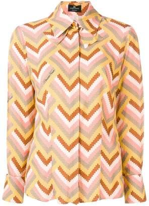 Elisabetta Franchi geometric print blouse