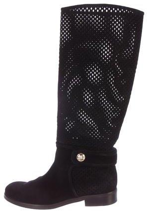 Louis Vuitton Suede Laser-Cut Boots
