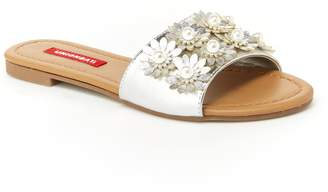 UNIONBAY Women's Metallic Slide Sandals