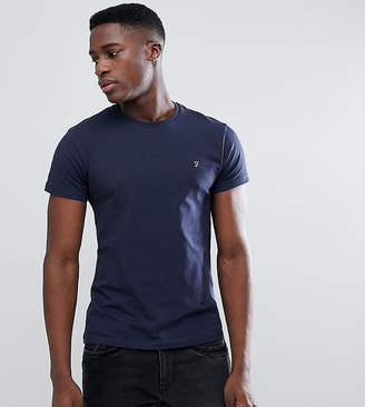 Farah Muscle Fit T-Shirt with F Logo in Navy