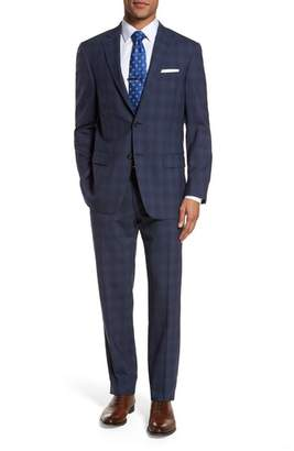 Hart Schaffner Marx Classic Fit Plaid Wool Suit