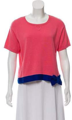RED Valentino Crew Neck Short Sleeve Top