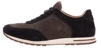 Loro Piana Suede Low-Top Sneakers