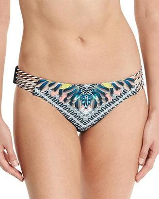Red Carter Warrior Reversible Strappy Swim Bottom, Deep Lake/Multi $40 thestylecure.com