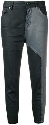 Rick Owens two tone skinny jeans
