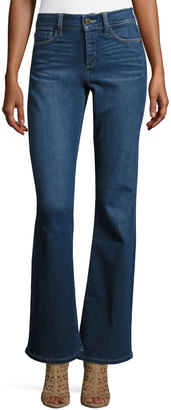 NYDJ Farrah High-Waist Boot-Cut Jeans, Blue $89 thestylecure.com