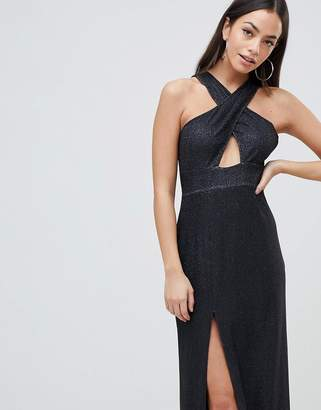 AX Paris Cross Front Maxi Dress With Side Split