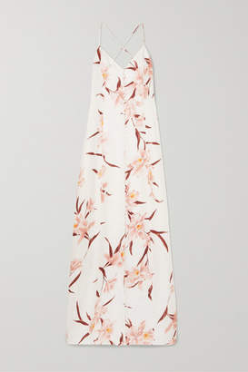 Zimmermann Corsage Floral-print Linen Maxi Dress - Blush