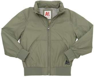Nylon Bomber Jacket W/ Jersey Lining