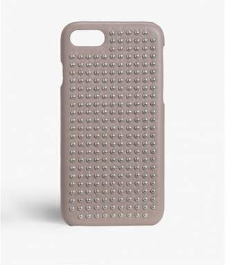 Factory The Case Iphone 7-8 Borchie Nappa Light Taupe Silver Studs