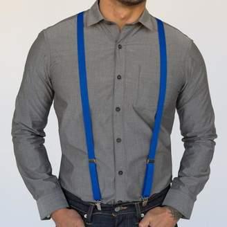 Blade + Blue Royal Blue Elastic Skinny Suspenders