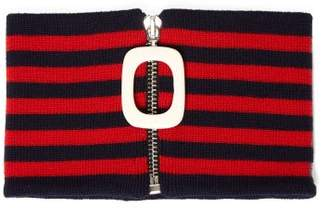 J.W.Anderson Striped Merino Wool Neckband - Mens - Blue Multi